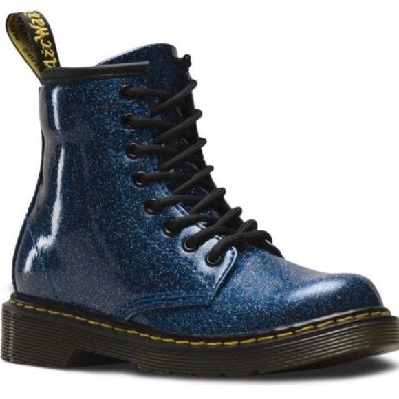 Dr Marten 1460 Blue Glitter Zip Boots